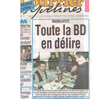 Une d'un journal avec photo de Fred, mars 1997