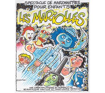 Affiche marionnettes. 2000