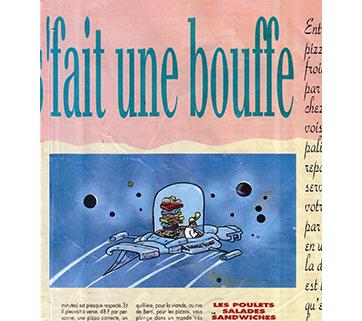 Dessin pour Télérama/supplément Parisien (1990)