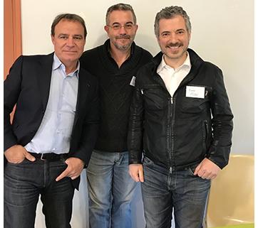 Fred avec L'acteur Bruno Puzzulu et Fabien Lecœuvre, mars 2018