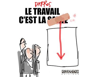 Premier Projet de couverture LE TRAVAIL C'EST LA SANTE ! Barros 2017