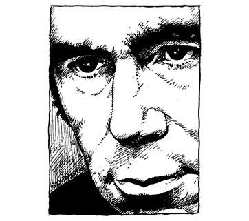 """Portrait de Nougaro figurant dans l'album """" Vous avez bien régions!"""""""