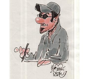 Caricature Portrait réalisé par Florence Cestac  en 2012 ou 13