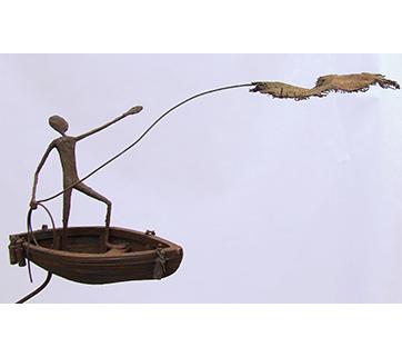 Sculpture de Michel de Smyter en vue d'un projet de livre pour 2019