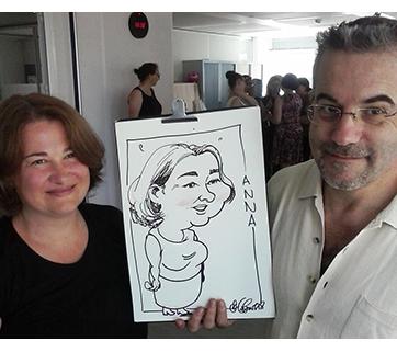 Caricatures en direct à Paris, Juillet 18