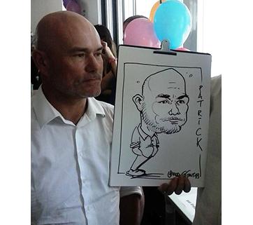 Caricatures en direct à Paris #3, Juillet 18.